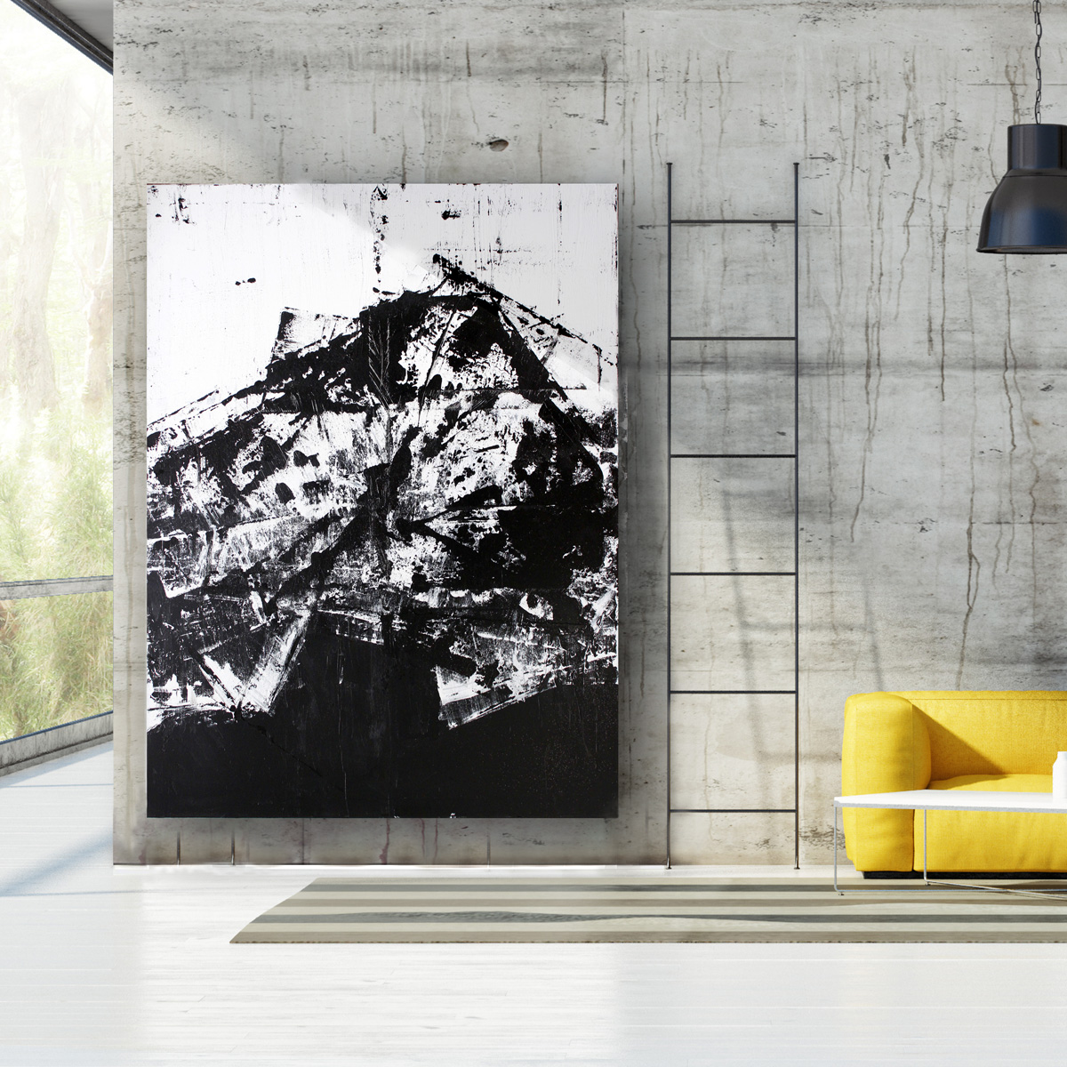 abstract schilderij modern interieur design acryl acrylic interior painting modern